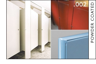 Hadrian Products Metal Powder Coated Toilet Partitions - Hadrian bathroom stall hardware