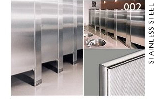 Hadrian Products Stainless Steel Toilet Partitions
